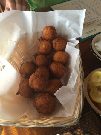 Seafood Shack: Hush puppies were the best that I have ever had!! Smoking hot when they arrived at the table.