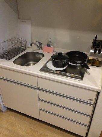 Fraser Residence Nankai Osaka : 小廚房