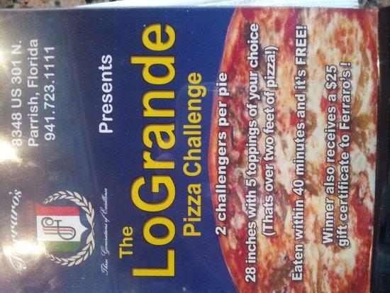 Ferraro's Italian Grill: Pizza challenge! !