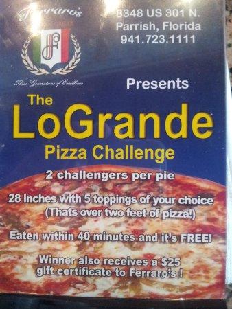 Ferraro's Italian Grille: Pizza challenge! !