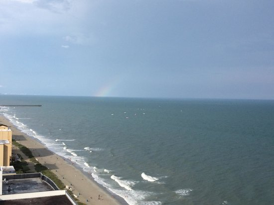 Rainbow from our last day at the palace resort room 2310