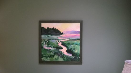 Mainstay Oasis Bed and Breakfast : Painting of the river inlet