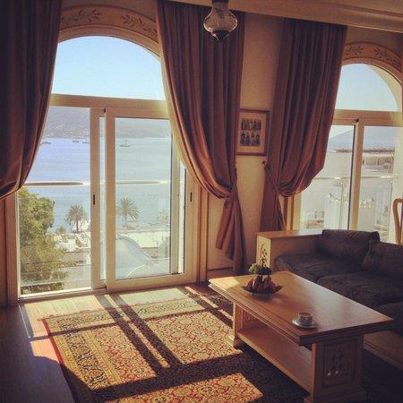 Salmakis Resort & Spa: View from inside Presidential suite