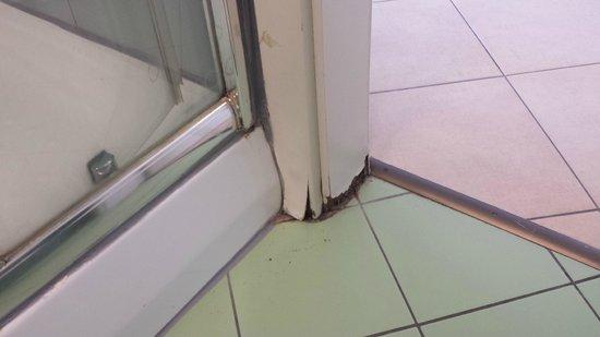 Novum Hotel Vitkov Prag: shower falling apart