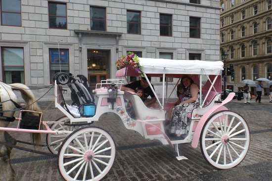 Horse drawn carriage ride though Old Montreal