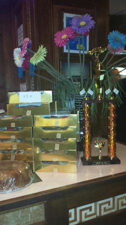 A trophy for the soon to be winner of the Car Show at Club House Diner!!!!