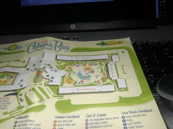 Universal's Cabana Bay Beach Resort: Water Slide Side