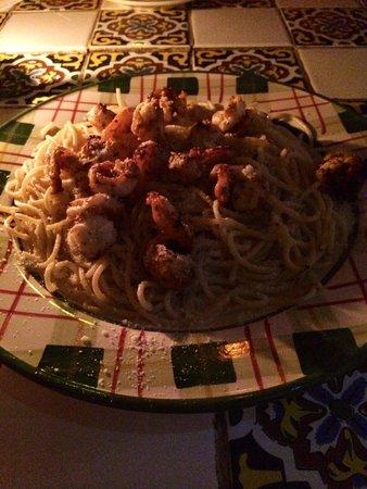 La Cabana del Pescador : Shrimp spaghetti