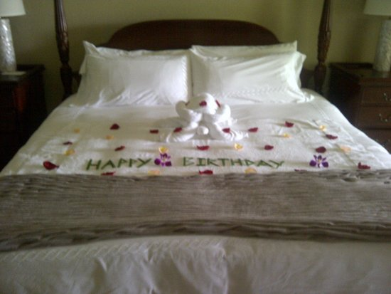 Sandals Royal Plantation: The Butler's B'day message for my wife