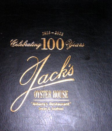 Jack's Oyster House : The Menu Cover