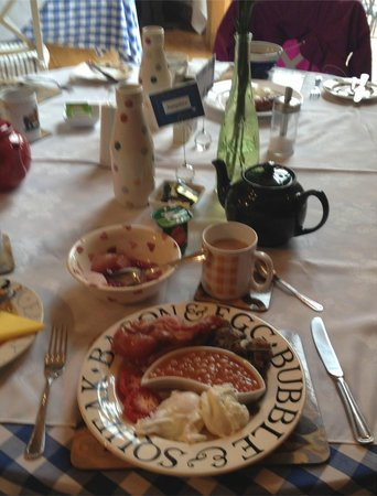 Dairy Barns Bed & Breakfast : one of the breakfasts -my photo doesn't do it justice though!