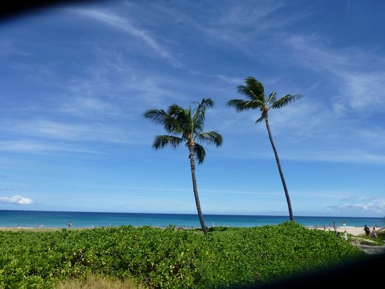 Hapuna Beach: view as you come from the parking lot