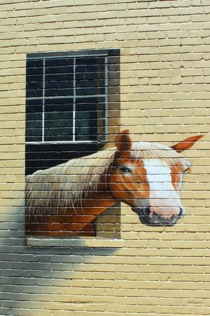Palmetto Carriage Works: Painted Brick near building