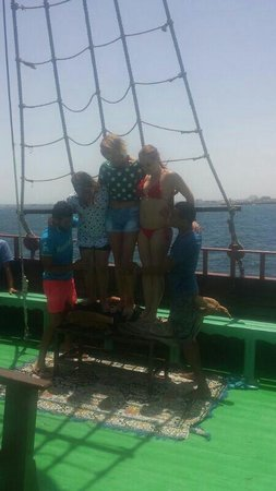 Marhaba Salem : These boys are crazy lol lying on sharp objects on a rocky boat lol. Was very funny. But thank.y