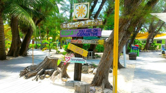 Rum Point: signs