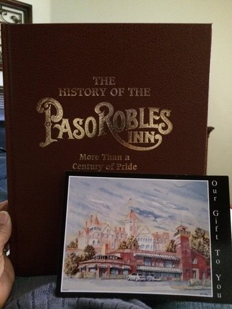 Paso Robles Inn: The book they left as a gift.