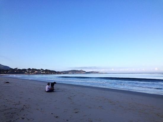 Adobe Inn: carmel beach early morning