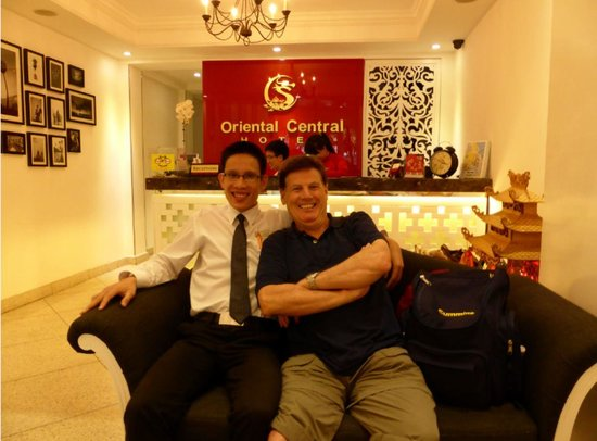 Oriental Central Hotel: My dad Brian and our concierge Brian
