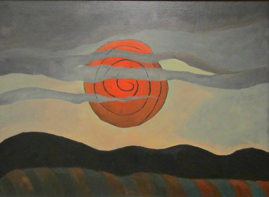 The Phillips Collection : Arthur Dove's Red Sun.  One of the great works on display!