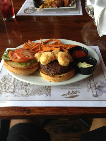 Shrimp Factory : Surf & Turf Burger