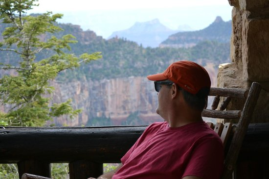 Grand Canyon Lodge - North Rim : Looking out over the north rim from the front porch of cabin 309