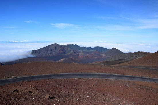 Haleakala Crater: Looking into the crater