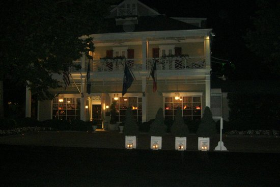 The Inn at Little Washington: The outside of Inn at night