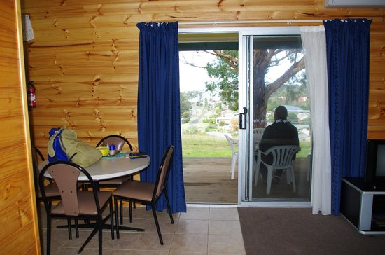 Queechy Cottages: Inside looking out