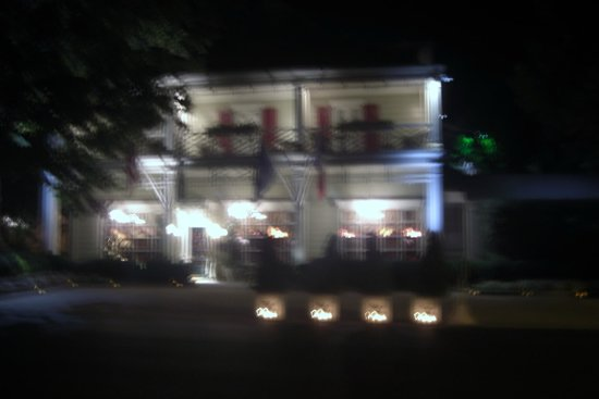 The Inn at Little Washington: Blurry shot of outside at night