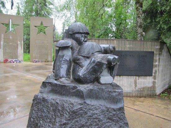 Alaska Veterans Memorial: Ab interesting sculpture
