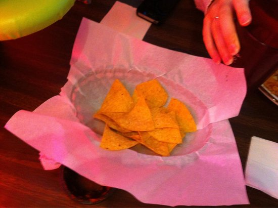 Playa Azul: Half done with second serving of tortilla chips