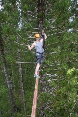 Just Live! Zipline Tours : Oh y'know...just hanging out.