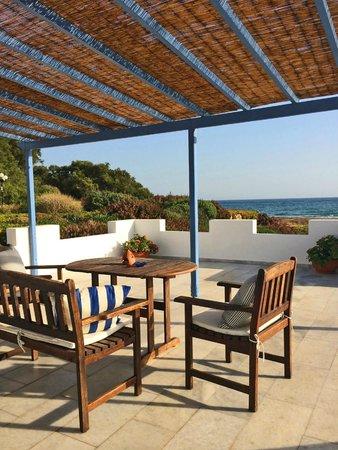 Villa Marandi Luxury Suites: Honeymoon Suite terrace view