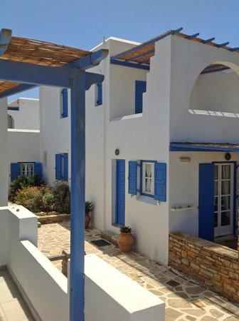 Villa Marandi Luxury Suites: Honeymoon Suite terrace; view of neighboring units
