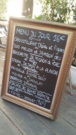 Un Bouchon en Provence : Menu du jour ;)