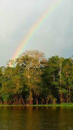 Muyuna Amazon Lodge : arcoiris durante una excursion