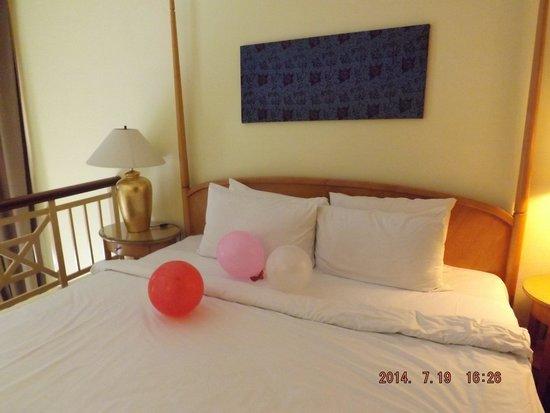 Lotus Desaru Beach Resort : the bedroom