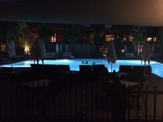 The Ritz-Carlton, Rancho Mirage: the pool at night.