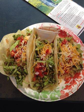 Horhitos Taqueria: Shrimp taco, whitefish taco, chicken taco......all overly delicious