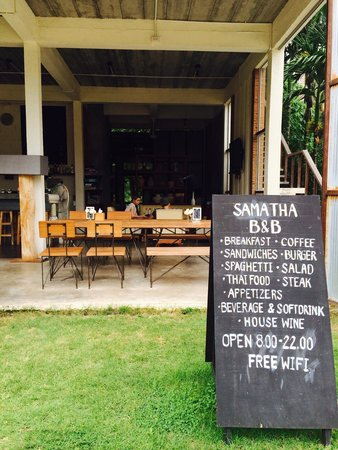 Samatha Bed & Breakfast: Design view and menu