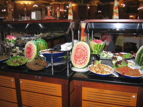 Grand Yazici Club Turban: Шведский стол. Красиво и вкусно.
