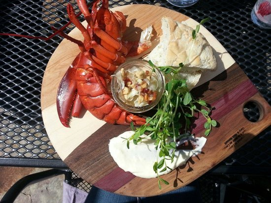 The Ivy Restaurant: Lobster platter on the patio summer 2014