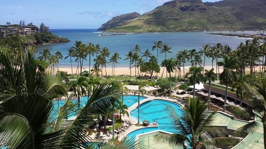 Kaua'i Marriott Resort : Our view from our room. It was awesome!