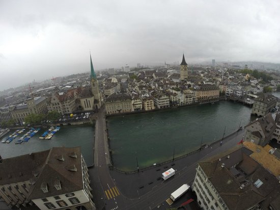 Grossmunster : Excellent view of Zurich