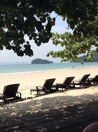 The Datai Langkawi: view from the beach bar