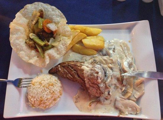 Bistro Blue: My fillet steak meal.