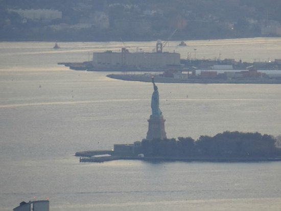 The Statue of Liberty from Empire State Building