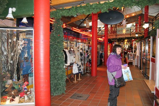 Santa Claus Village: One of the shopping arcades