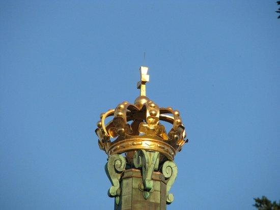 Skansen Kronan : La Couronne sur ciel bleu