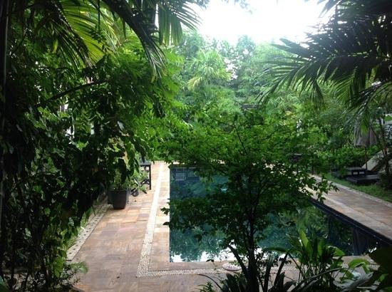Bunwin Boutique Hotel : view from our room door